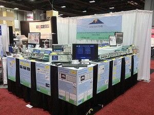 A-M Systems booth at Neuroscience 2011 showing MultiStim: Programmable 8-Channel Stimulator (Model 3800)