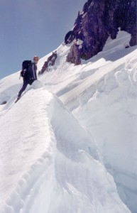 Dr. Mittmann is on his way to the top of Mount Olympus (7,800 ft) in the Olympic National Park in Washington.