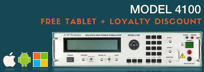 Get a Free Tablet and Discounts With Model 4100 Isolated High Power Stimulator