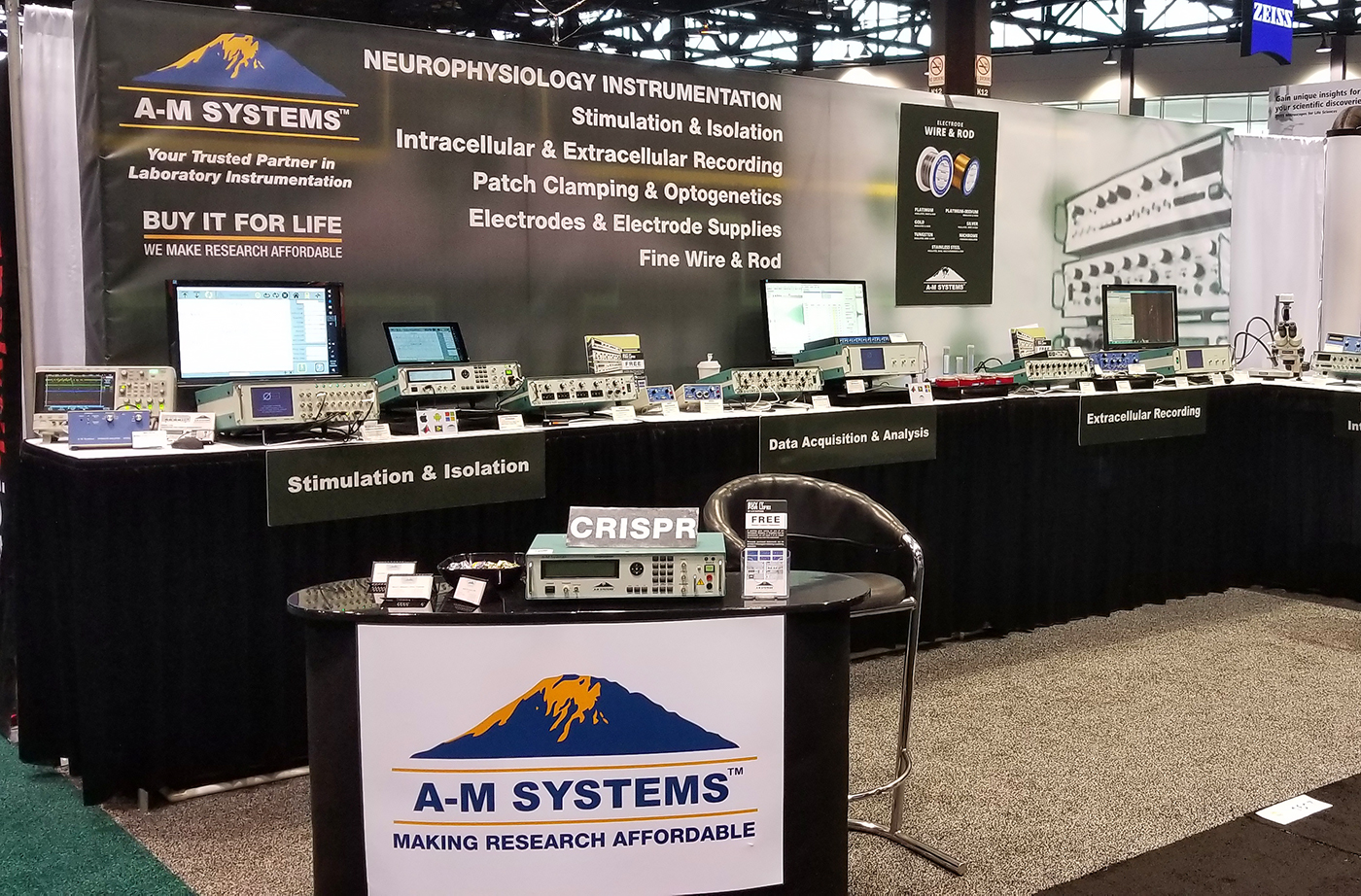 A-M Systems Booth #1617 at Neuroscience 2019 in Chicago
